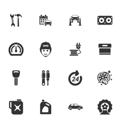 Car service icon set vector image