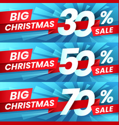 christmas sale discount xmas advertising sales vector image