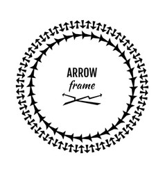 Circle frames or borders made of arrows symbols vector