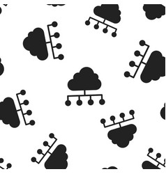 Cloud computing technology icon seamless pattern vector