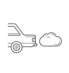 Co2 emission line icon vector
