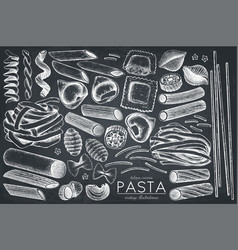 Collection of italian pasta vector