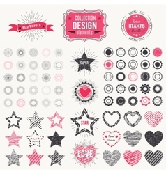 collection premium design elements vector image