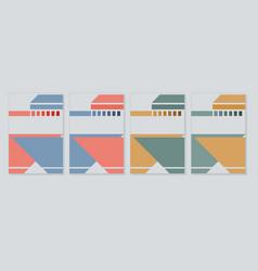 Cover books album color vector