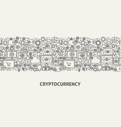 Cryptocurrency banner concept vector