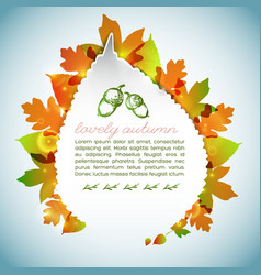 decorative autumn light background vector image