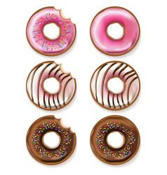 donuts realistic 3d detailed desserts vector image