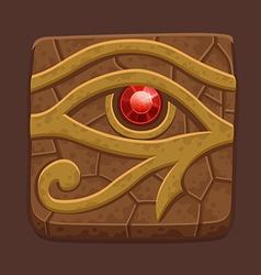 Egyptian eye stone slab vector image