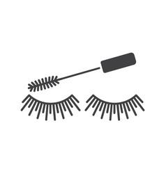 Eye mascara glyph icon vector
