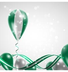 Flag of Nigeria on balloon vector
