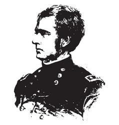 General joseph hooker vintage vector