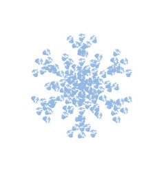 grainy isolated snowflake vector image