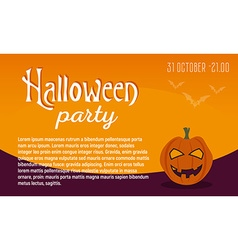 Greeting card or invitation Halloween party vector