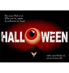 Halloween background with scary eye and sample vector