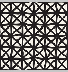 Hand drawn line lattice seamless black vector