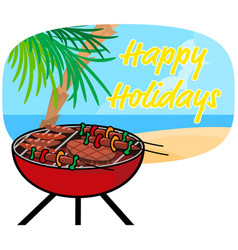 Happy holiday and summer vector
