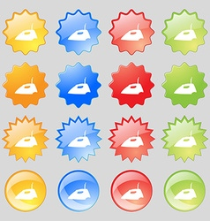 Iron icon sign Big set of 16 colorful modern vector