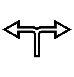Junction Left Right Stroke Icon vector image