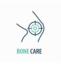 Knee line icon on white background logo design vector