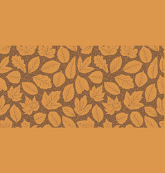 leaf fall seamless background autumn pattern vector image
