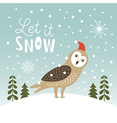 Let It Snow Christmas vector image vector image
