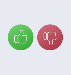 Like green and dislike red disapproval and vector