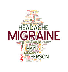 Migraine text background word cloud concept vector