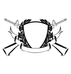 military frame vector image