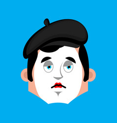 mime sad emotion avatar pantomime sorrowful emoji vector image