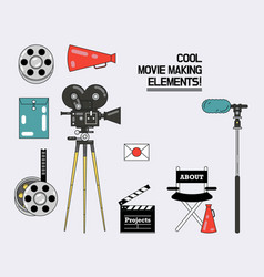movie making process design elements vector image