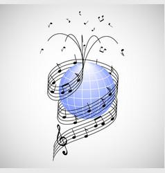 Music around world vector