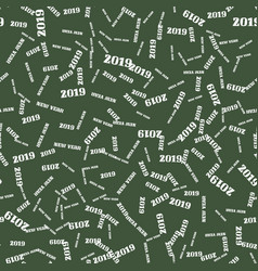 New year seamless pattern on the green background vector
