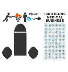 penis enhancement tabs icon with 1300 medical vector image