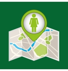 Person recycle pin map icon vector