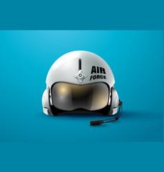Pilot jet helmet aviator vector