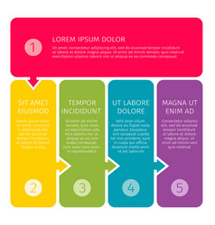 Process steps business concept vector