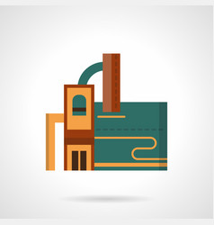 recycling factory flat color icon vector image