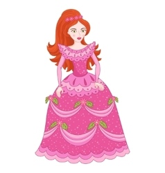Red-haired princess in elegant vector