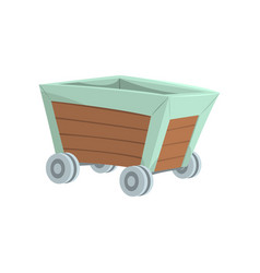 retro wooden wagon mining industry concept vector image