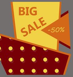 sale banner big sale banner template design sale vector image