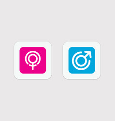 Simple gender icons men and women male and female vector