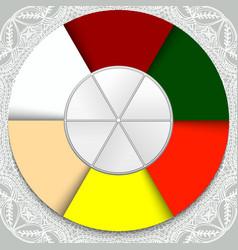 six multicolored sectors in a circle concept idea vector image