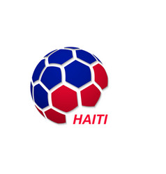 Soccer ball with national flag colors vector