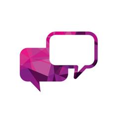 Speech bubbles dialog chat message communication vector