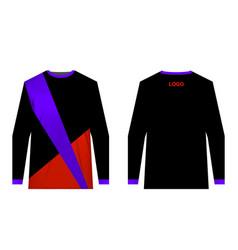 Sportswear jersey template vector