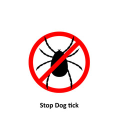 stop dog tick stop on a white background vector image
