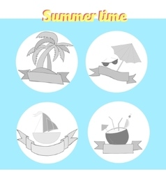 Summer beach travel logo vector image