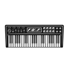 synthesizer musical instrument vector image