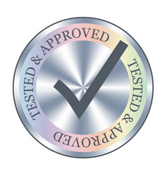 tested and approved sticker icon badge vector image