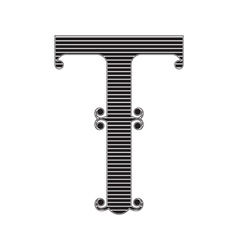 The vintage style letter t vector